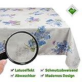 Valia Home Tischdecke Tischtuch Tafeldecke schmutzabweisend wasserabweisend Lotuseffekt pflegeleicht...
