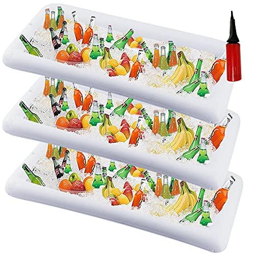 DR.DUDU Inflatable Serving Bar, 3 Pack Ice Serving Buffet Salad Cooler...