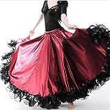 QYYdress Robe de Mode féminine Robe de Bal de Danse du Ventre Jupe Voir Robe, Taille: 720 degrés (vin Rouge) (Color : Wine Red, Size : 540 Degrees)