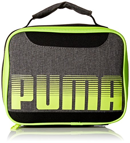 PUMA Boys' Little Backpacks and Lunch Boxes, Gray/Yellow, Youth