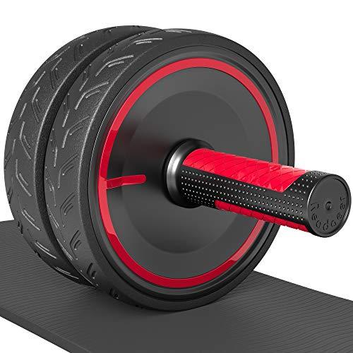 Readaeer Bauchtrainer AB Wheel/AB Roller/Bauchmuskelrad/Bauchroller inkl. Dicke rutschfeste Matte