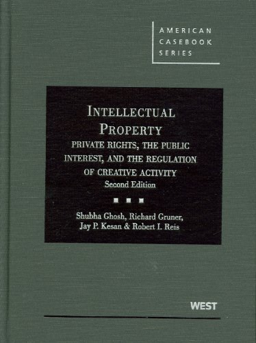 Intellectual Property: Private Rights, the Public Interest, and the Regulation of Creative Activity,