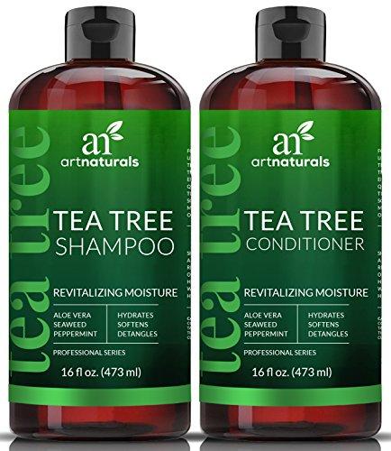 ArtNaturals Tea Tree Shampoo and Conditioner Set - (2 x 16 Fl Oz / 473ml) – Sulfate Free –...