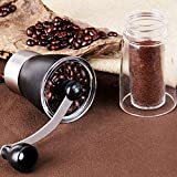 Molinillo de café manual en grano, molinillo de café manual en grano entero, tamaño pequeño, molino de fresas de acero inoxidable, viaje portátil para expreso, prensa francesa, especias, hierbas