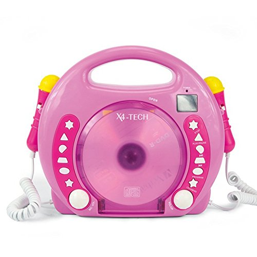 X4-TECH Kinder CD-Player Bobby Joey MP3 pink Vedes