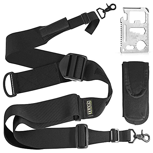 Team's Easy Length Adjustment 2 Point Rifle Sling Fits Any Gun Strap, Hunting Rifle Strap, Gun Accessories, 2'' Extra Wide Strap, Sling with Swivels Adjustable Length 40''-59'', Free Bonus