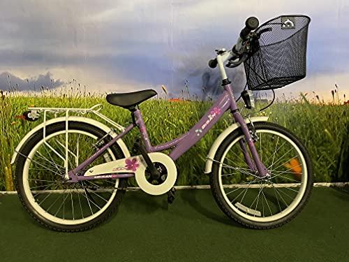 """T&Y Trade 20"""" 20 Zoll Kinder Fahrrad MÄDCHENFAHRRAD KINDERFAHRRAD MÄDCHENRAD Kinder Bike Rad CITYBIKE CITYRAD Beleuchtung STVO Lila 2300"""