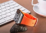 """Intelligent Bluetooth Smart Watch with 1.54""""ogs Full Fit Capacitive Touch Panel,stainless Steel Shell (Orange)"""