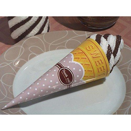 Zoete traktaties collectie chocolade Swirl ijs Cone handdoek gunst