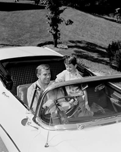 Father and son in convertible 24 Limited time for free Excellent shipping 36 x Print Poster