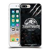 Head Case Designs Oficial Jurassic World: Fallen Kingdom Garra de Dinosaurio Logotipo Carcasa de Gel de Silicona Compatible con Apple iPhone 7 Plus/iPhone 8 Plus