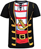 COSAVOROCK Herren Piraten Kostüm T-Shirts (XXL, Piraten)