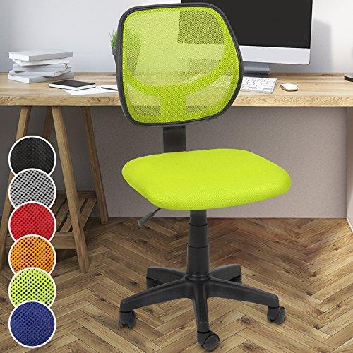 Miadomodo - Silla giratoria de oficina - altura regulable – verde – diferentes colores a elegir