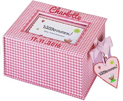Coppenrath 3264 - Baby-Schatzkästchen rosa mit Namen beschriftet