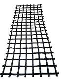FONG 15 ft X 6 ft Climbing Cargo Net Black - Indoor Climbing net - Outdoor Cargo Webbing Net - Military Climbing Cargo Net (15)