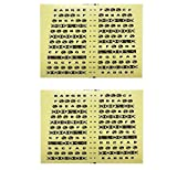 GOSONO 2PCS/SET Acoustic Electric Guitar Fretboard Fingerboard Note Sticker Map Frets Guitarra