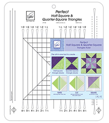 Juni Tailor 101/2x 121/2Zoll Perfekte 6,4und Quarter-Square Dreiecke Lineal