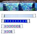 NAIZY - Illuminazione LED per acquario, 25 W, dimmerabile, con supporto regolabile, colore blu e RGB per acquari da 95 a 115 cm, classe energetica A + + +