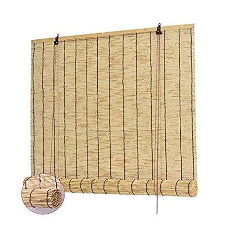 XIAOLIN Tenda Lamella Naturale, Tapparelle Rulli della Finestrino, bambù Roll Up, Casa Parasole A Domicilio Filtraggio 60% Decorazione Sollevamento Verticale (Color : Clear, Size : W115xL220cm)