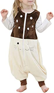 LvRao Unisex Kids Animal Onesie Sleeveless Baby Sleeping Bag Soft Flannel Sleep Sack