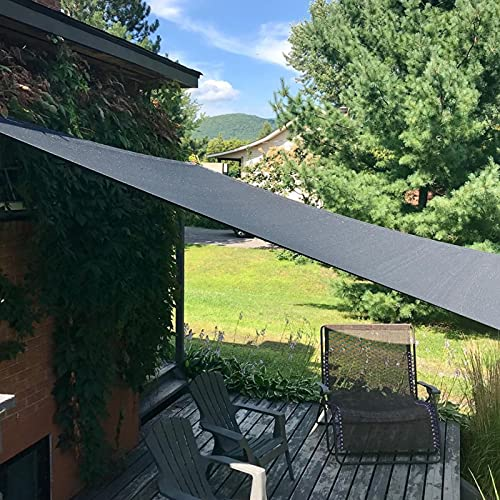 IBIZSAIL Markise Wasserdicht 95% UV Sonnenschutz - Gebogenes Rechteck - Geeignet für Garten、 Balkon、 Outdoor - Anthrazit - 300 x 200 cm