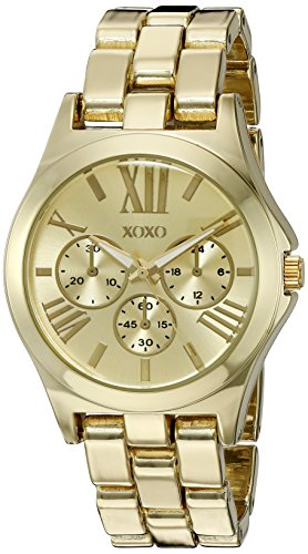 XOXO Women's Quartz Metal and Alloy Watch, Color:Gold-Toned (Model: XO5864)