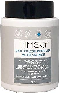 Timely - Quitaesmalte para uñas con esponja de uso fácil 75 ml