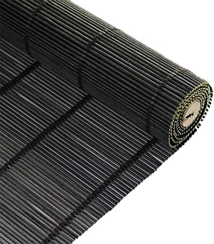 RENQIAN Rolgordijnen Zwart Natuurlijke Bamboe Roll Up Window Blind Light-Transmissive Sun Shade Shading Rate (Maat: 85X100Cm)