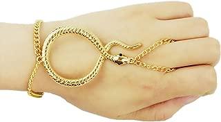 Women Unique Snake Adjustable Finger Slave Ring Hand Chain Bracelet Wrist Jewelry Accessories