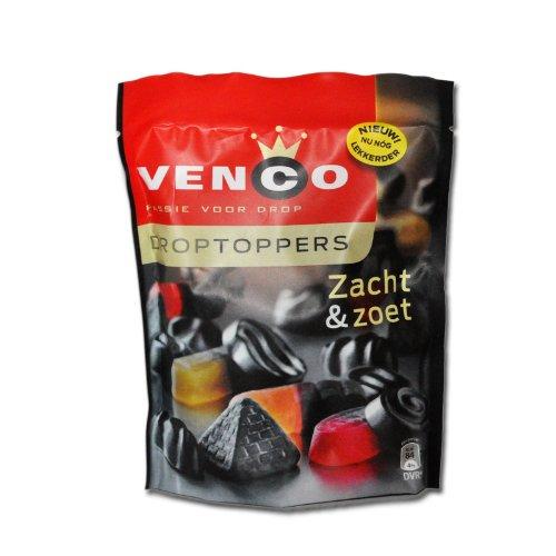 10 x Venco Droptoppers Zacht & Zoet 287g / Süsse und Weiche Lakritz