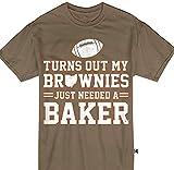 Hoyoiun Men's resulta Que mis Brownies Solo necesitaban una Divertida Camiseta Estampada de Baker