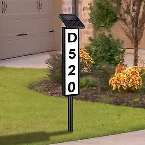 Lighted Address Plaques for House,Solar House Address Numbers Sign,Solar Powered House Numbers ,Waterproof Solar Address Signs for Home Yard Garden House (Warm White Cool White,Height 35 Inches,1pack)