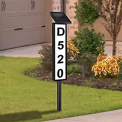Amazon - 40% Off on Lighted Address Plaques for House,Solar House Address Numbers Sign