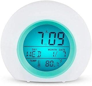 ANEAR Kids Alarm Clock, Digital Wake Up Clock with 7 Colors Changing Light & 6 Optional Alarm Nature Sounds, with Temperat...