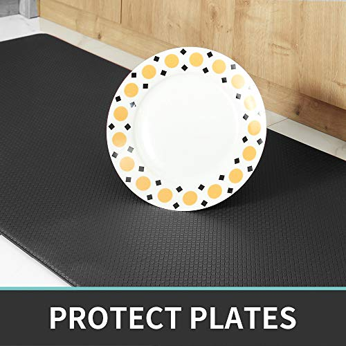DEXI Kitchen Rug Anti Fatigue,Non Skid Cushioned Comfort Standing Kitchen Mat Waterproof and Oil Proof Floor Runner Mat, Easy to Clean, 18