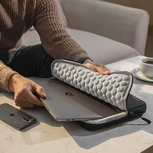 tomtoc Recycelt Laptop Hülle Tasche für 13-Zoll MacBook Air 2018-2021 M1/A2337 A2179 A1932, 13-Zoll MacBook Pro 2016-2021 M1/A2338 A2251 A2289 A2159, Dell XPS 13 2020, 12,9-Zoll iPad Pro 3./4. Gen.