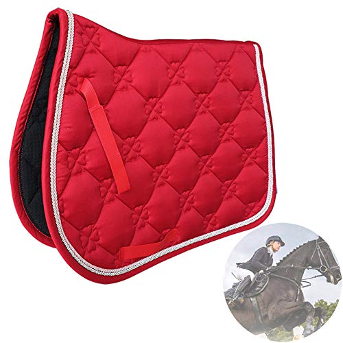 Cojín de montar a caballo Equestrian Bareback Riding Pad Horse Show Jumping Performance Equipment Amortiguador de choque, rojo