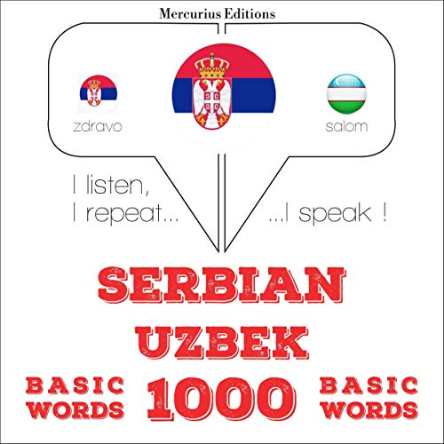 『Serbian - Uzbek. 1000 basic words』のカバーアート