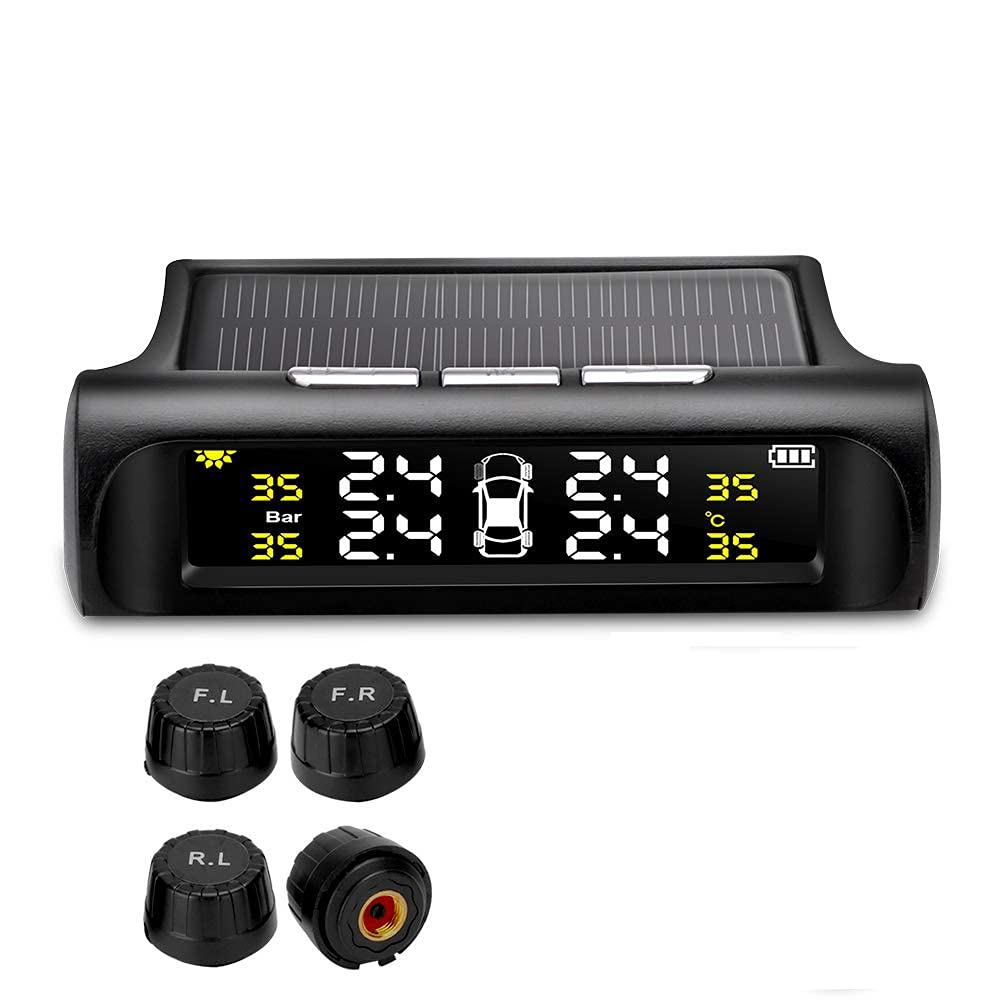Genuine Jansite TPMS Tire Pressure Monitoring Saf System Wireless Solar Free shipping anywhere in the nation