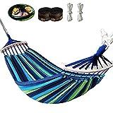 Yuxuan store Hamaca de 280 cm, para exteriores, jardín, para interior o camping, color azul