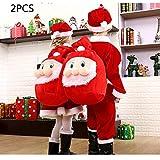 パーティー用バッグ2パック、サンタサックバックパック巾着クリスマスギフトバッグギフトやキャンディーを好みます