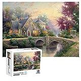 Jigsaw Puzzles 1000 Pieces for Adults - Fairyland Bridge Puzzle - Excellent Cutting Puzzles - Vibrant Colors Fits Family Challenge Puzzle Game