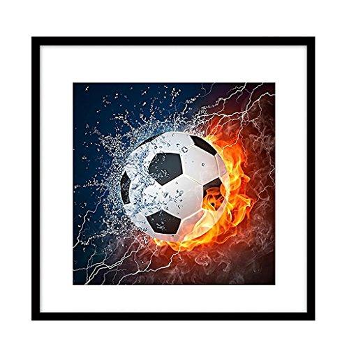 Dipinto 5D fai da te a forma di pallone da calcio, pittura a punto croce, decorazione da parete per la casa