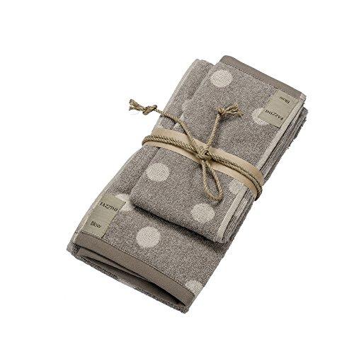 POIS coppia asciugamani 1+1 (ospite+asciugamano) col. 4 naturale FAZZINI