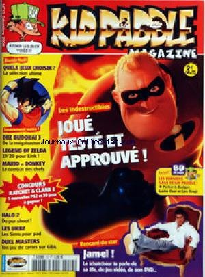 KID PADDLE MAGAZINE N? 13 du 01-12-2004 LES INDESTRUCTIBLES JAMEL - DBZ BUDOKAI 3 LEGEND OF ZELDA MARIO ET DONKEY HALO 2 LES URBZ DUEL MASTER