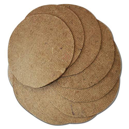 WormBox Set mit 10 Hanfmatten für wurmkomposter Eco-Worm, etc | Ø 40 cm