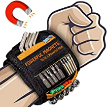 Magnetic Wristband Best DIY Dad Gifts- Gifts Tool for Men Magnetic Tool Wristband with 10 Powerful Magnets, Father Carpenter Men Gadgets Gifts Magnetic Wristband for Holding Nails Screws Drill
