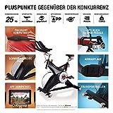 Sportstech Indoor Speedbike SX500   Deutsche Qualitätsmarke Video Events & Multiplayer APP   25kg Schwungrad & leiser Riemenantrieb   Pulsgurt kompatibel SPD Klickpedale   Nutzergewicht max. 150kg