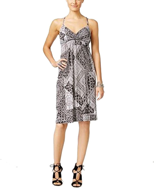 INC International Concepts Petite Printed Surplice Dress
