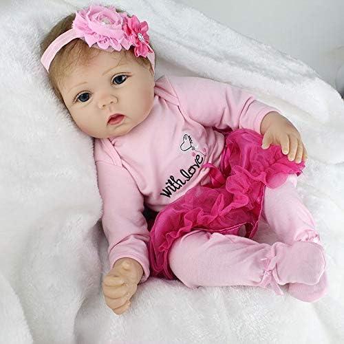 tiendas minoristas Decoraciones para muñecas 22inch Full Body Reborn Reborn Reborn Baby Dolls Newborn Doll Vinilo de Silicona Precioso Regalo Creativo para niña para bebés Niños  Seleccione de las marcas más nuevas como